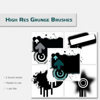 High resolution grunge brushes