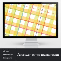 Abstract Yellow Retro Background