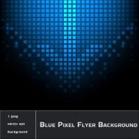 Blue Pixel Flyer Background