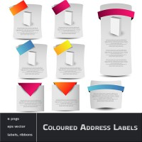 Coloured Address Labels with Ribbons