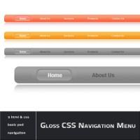 Gloss CSS Navigation Menu Interface
