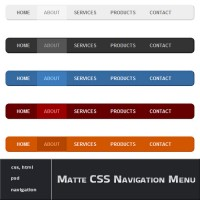 Matte CSS Navigation Menu