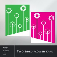 Two sided flower card