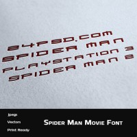 Spiderman Movie Font
