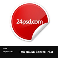 Red Sticker Template