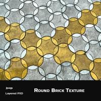 Round Brick Background