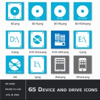 65 Device and Drive Icons
