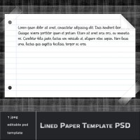 Lined Paper Template PSD