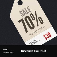 Discount Tag PSD