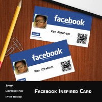 Facebook Inspired Business Card (PSD)