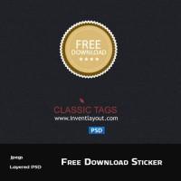 Free Download Sticker (PSD)