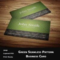 Green Pattern Business Card template