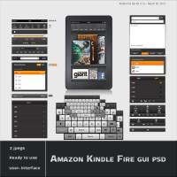 Amazon Kindle Fire Gui PSD