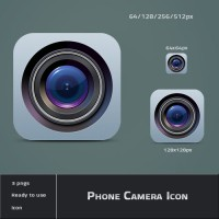 Detailed Camera Lens Icon