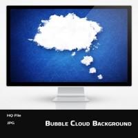Blue Bubble Cloud Background