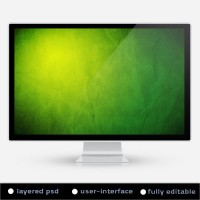 Green Paper Grunge Background