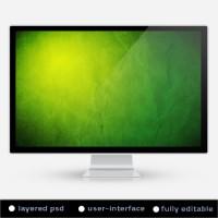 Green Paper Grunge Background