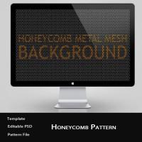 Black Honeycomb Metal Mesh Pattern