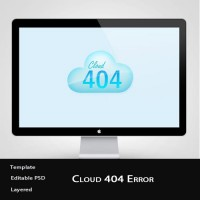 Error 404 Cloud Icon