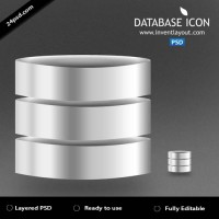 Database Icon PSD