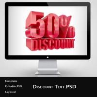 3D Discount Text PSD