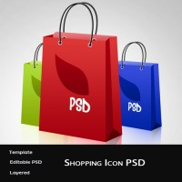 Free Shopping Bag Icon PSD