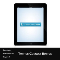Twitter Connect Button PSD