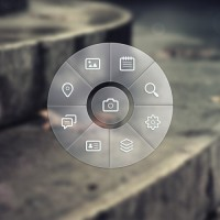 Circle Navigation Menu PSD