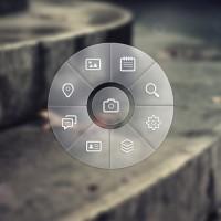 Circle Navigation Menu PSD