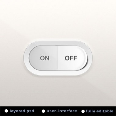 Toggle On &#8211; Off Switch PSD