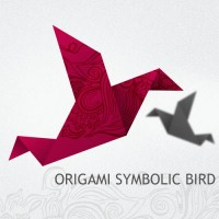 Origami Symbolic Bird PSD icon
