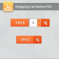 Shopping Cart Button PSD