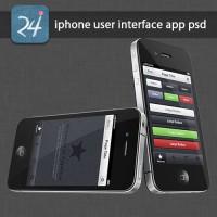 iPhone User Interface App PSD