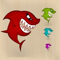 Red Shark PSD Icon