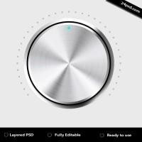 Metal volume button (PSD)