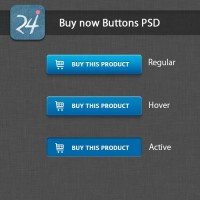 Blue Buy Now Buttons PSD