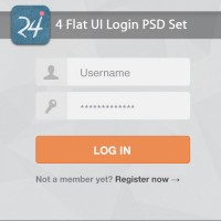 Flat UI Login PSD Set