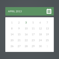 Flat Calendar PSD