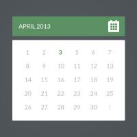 Flat Calendar PSD