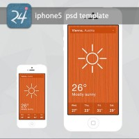Free Flat iPhone 5 PSD