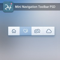Mini Navigation Toolbar with PSD, CSS