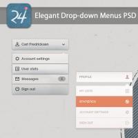 Elegant Drop-down Menu PSD