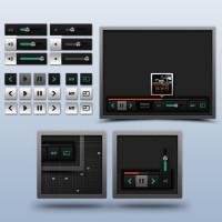 Free Video Player UI kit PSD