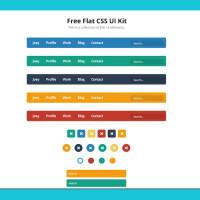 Free Flat CSS3 UI Kit
