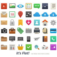 Free Flat Photoshop Vector Icons