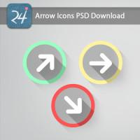 Round Arrow Icons PSD