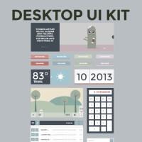 Free Flat Desktop UI Kit
