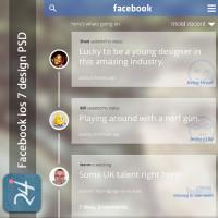 Download Facebook IOS7 Concept PSD