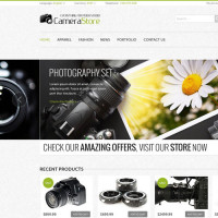 Camera E-commerce PSD Web Template