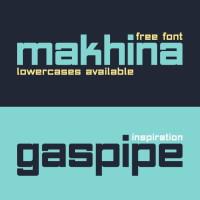 Free Modern Gaspipe Font Makhina
